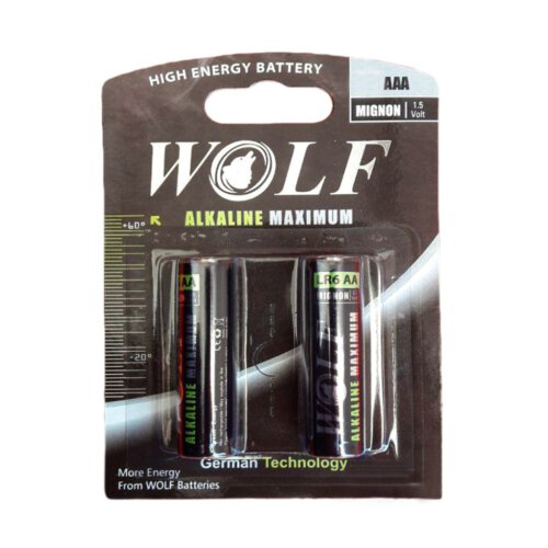 باتری نیم قلمی ولف مدل Alkaline Maximum