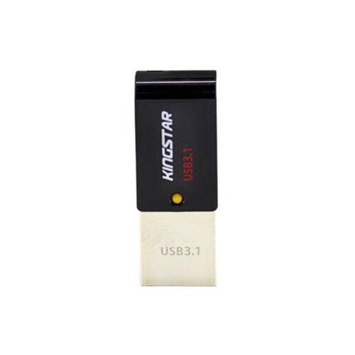 فلش مموری USB 3.1 کینگ استار مدل Dual S30 ظرفیت 64 گیگابایت