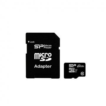 کارت حافظه سیلیکون پاور مدل Elite کلاس 10 استاندارد UHS-I U1 سرعت 85MBps همراه با آداپتور تبدیل - 256GB