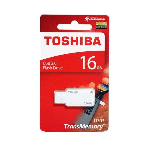 فلش مموری USB 3.0 توشیبا مدل TransMemory U303 ظرفیت 16 گیگابایت