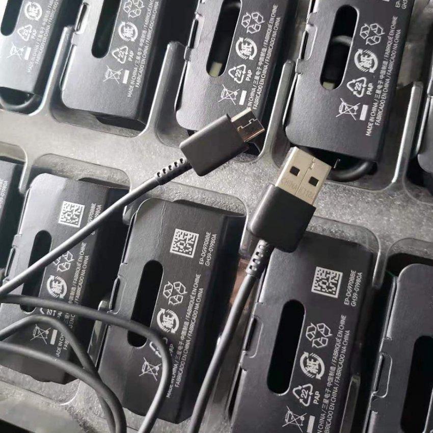 کابل شارژ سامسونگ فست شارژ اورجینال 2.1 آمپر تایپ سی مناسب برای مدل های Galaxy S10/S10 Plus/S10e