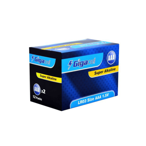 باتری نیم قلمی گیگاسل مدل Super Alkaline بسته 24 عددی