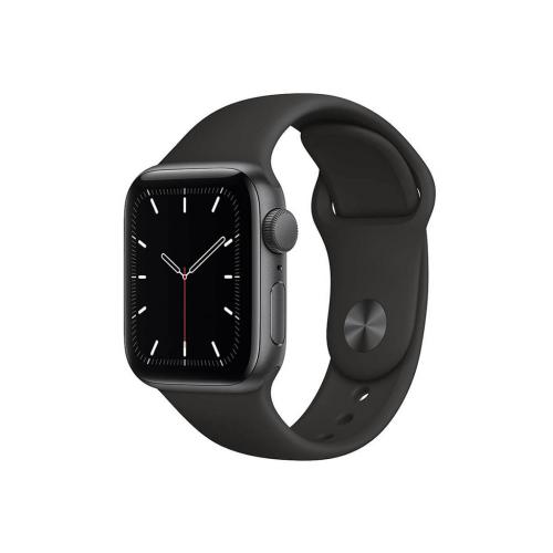 ساعت هوشمند اپل واچ سری SE مدل 44 میلی متری بدنه آلومنیومی خاکستری با بند لاستیکی مشکی