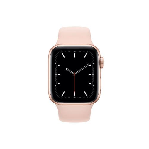 ساعت هوشمند اپل واچ سری SE مدل 40 میلی متری بدنه آلومنیومی رزگلد با بند لاستیکی صورتی