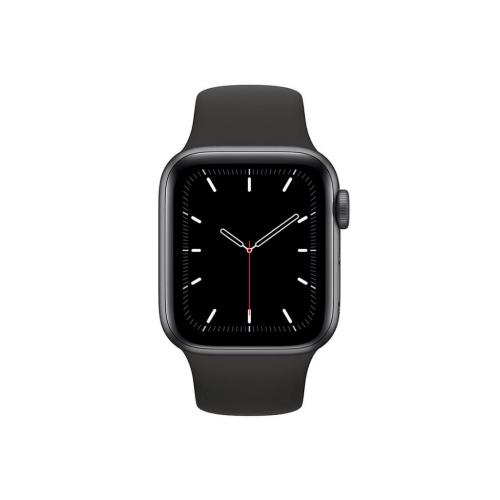 ساعت هوشمند اپل واچ سری SE مدل 40 میلی متری بدنه آلومنیومی خاکستری با بند لاستیکی مشکی