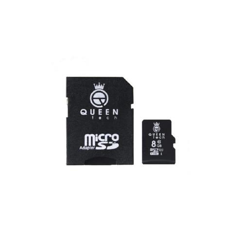 کارت حافظه microSDHC کوئین تک کلاس 10 استاندارد UHS-I U1 سرعت 45MBps ظرفیت 8 گیگابایت به همراه آداپتور SD