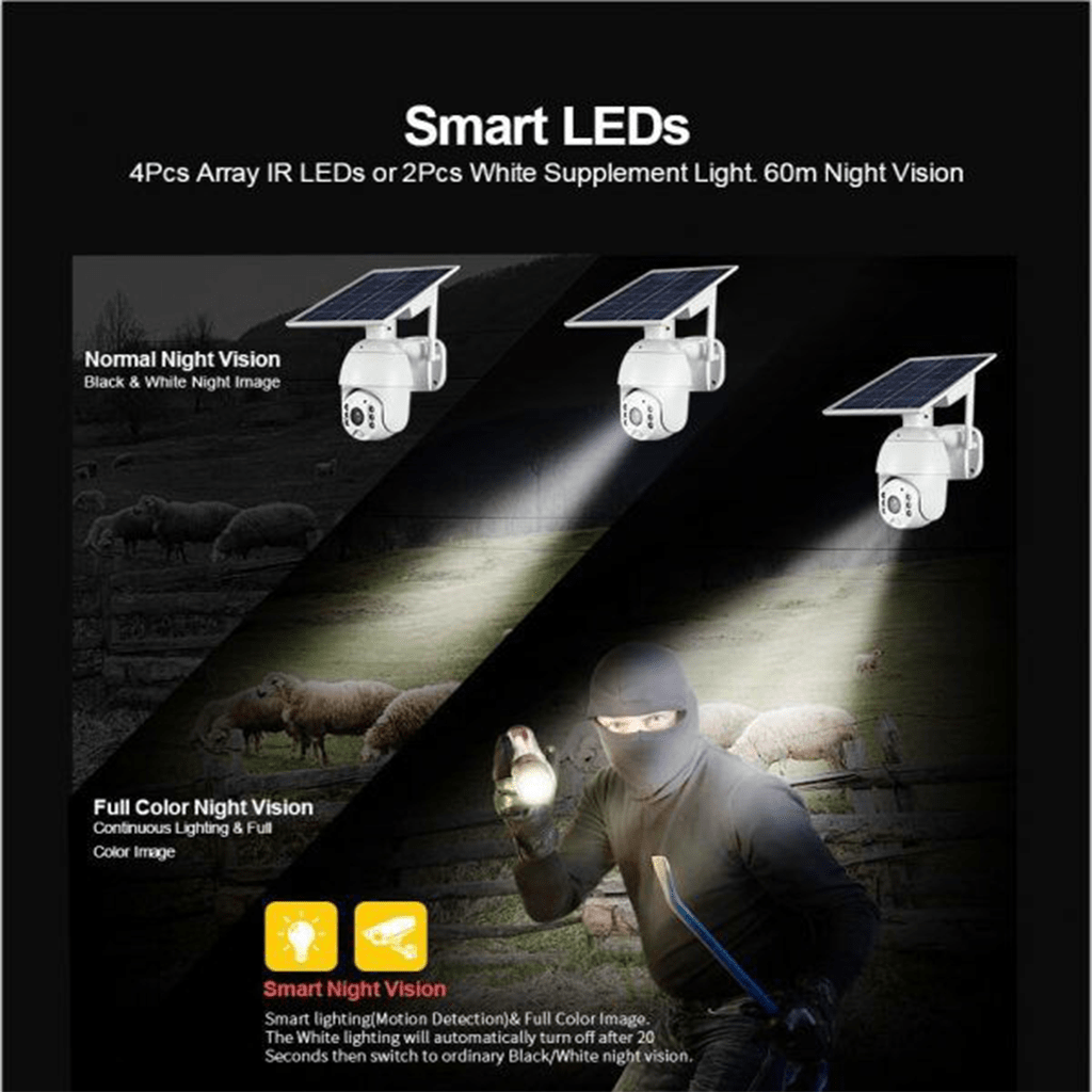 دوربین مداربسته تحت شبکه خورشیدی مدل HD_WIFI/4G